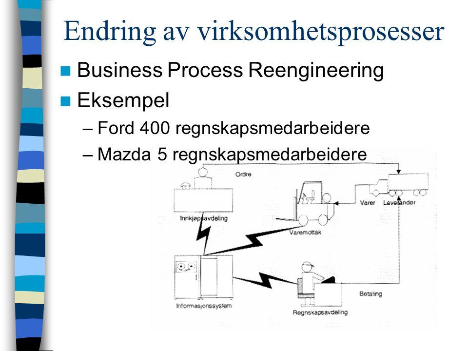 Endring av virksomhetsprosesser