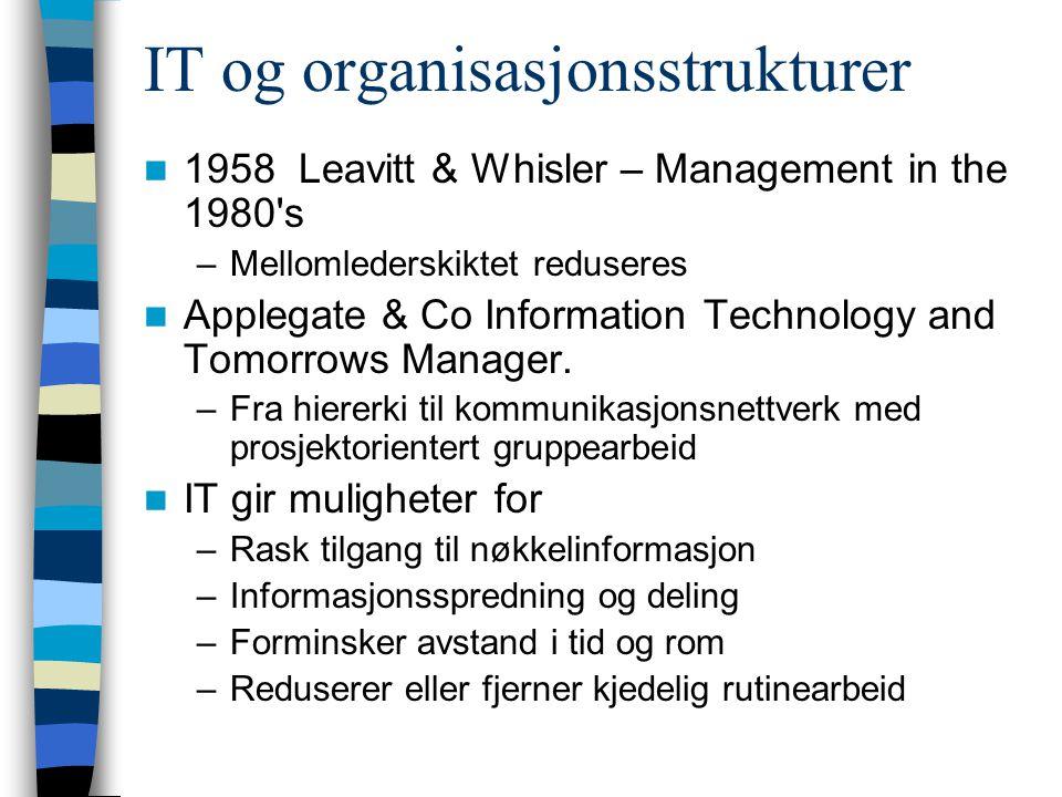 IT og organisasjonsstrukturer
