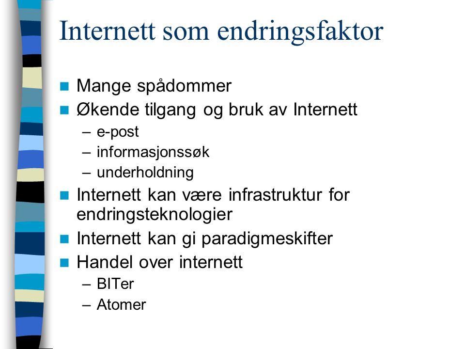 Internett som endringsfaktor