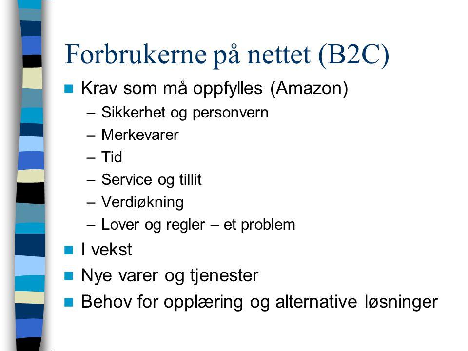 Forbrukerne på nettet (B2C)