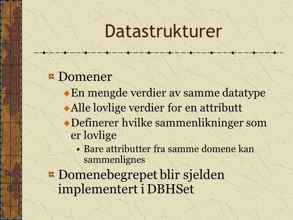 Datastrukturer Domener
