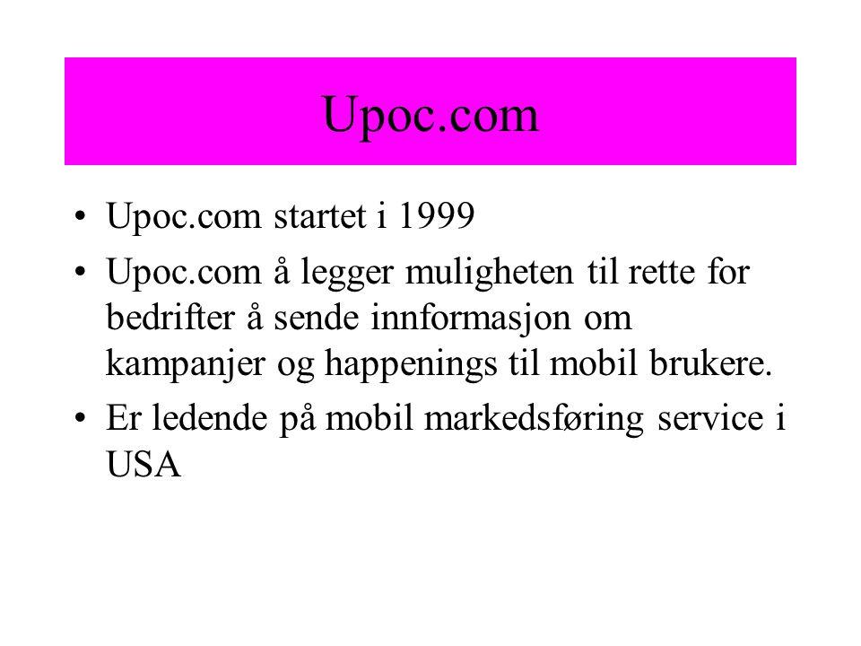Upoc.com Upoc.com startet i 1999