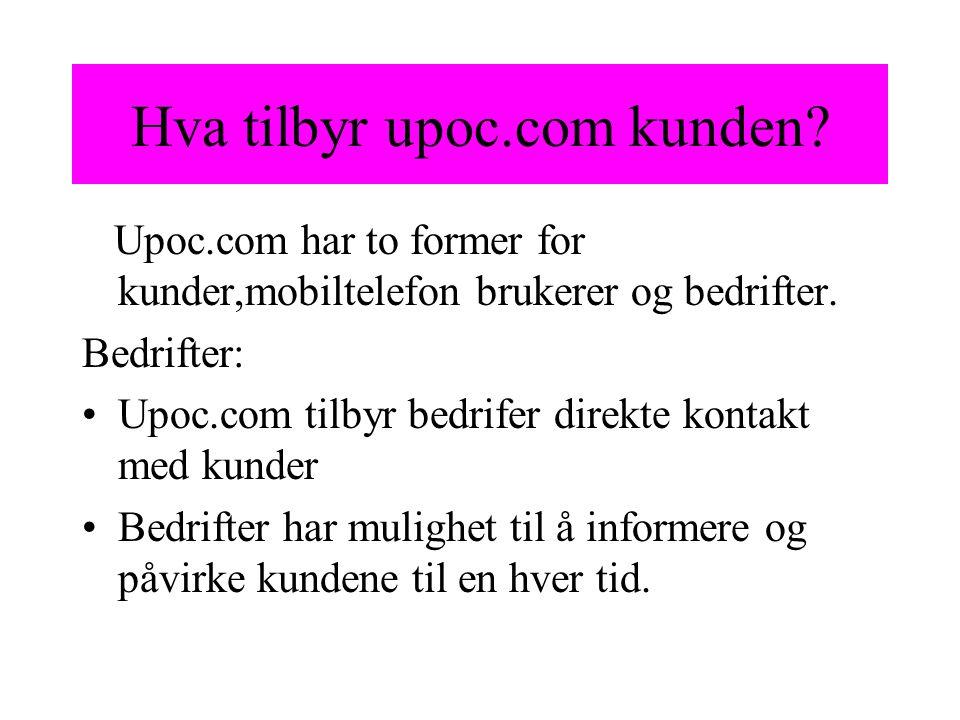 Hva tilbyr upoc.com kunden