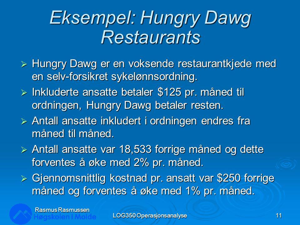 Eksempel: Hungry Dawg Restaurants