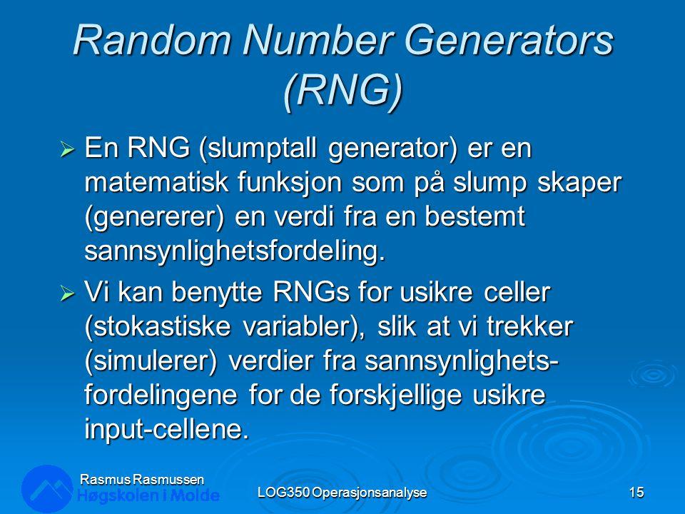 Random Number Generators (RNG)