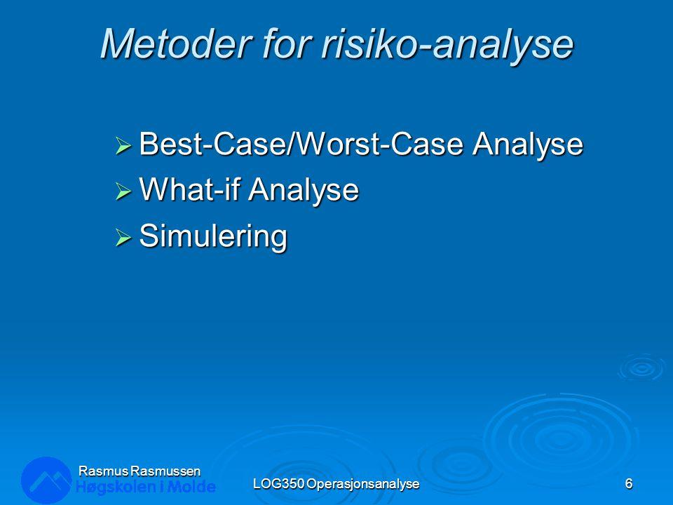 Metoder for risiko-analyse