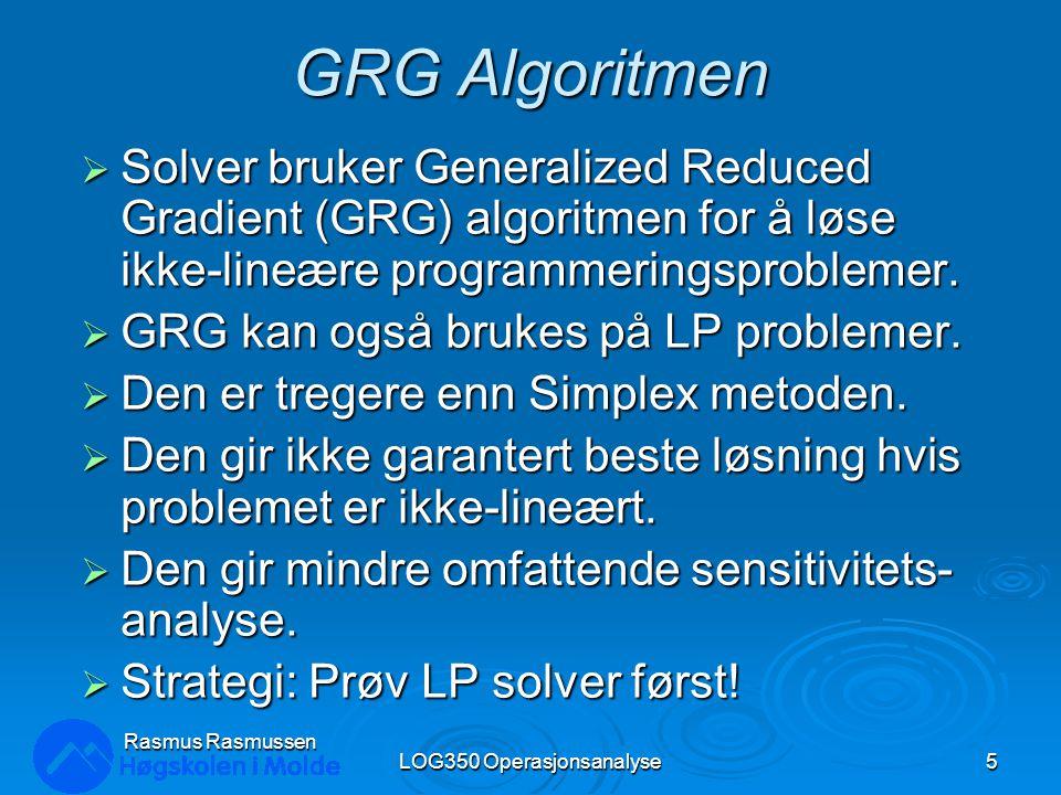 LOG350 Operasjonsanalyse