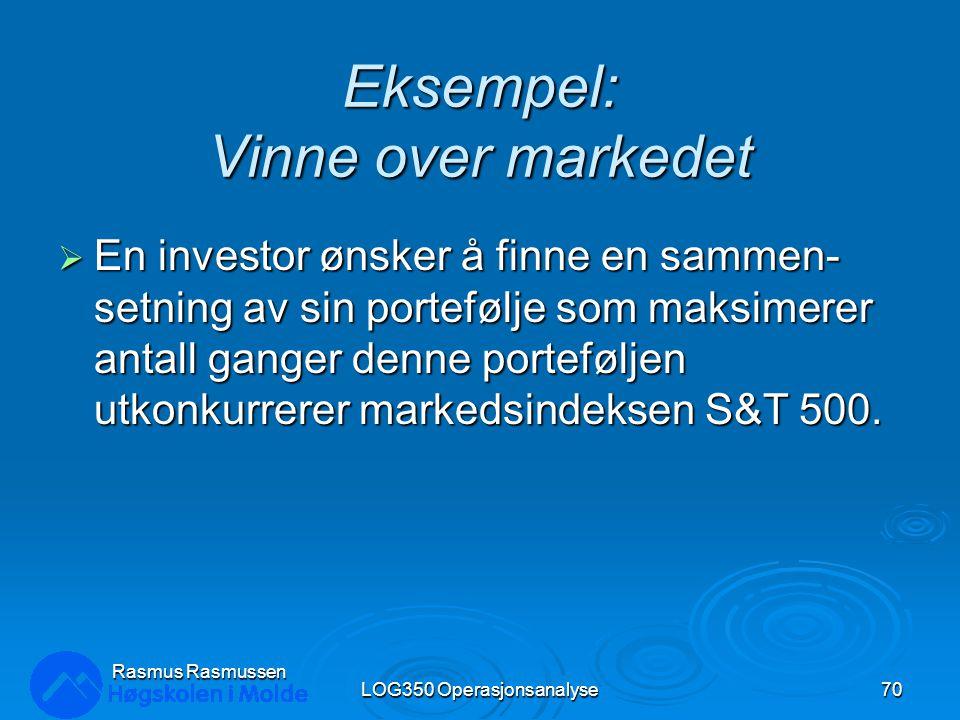 Eksempel: Vinne over markedet