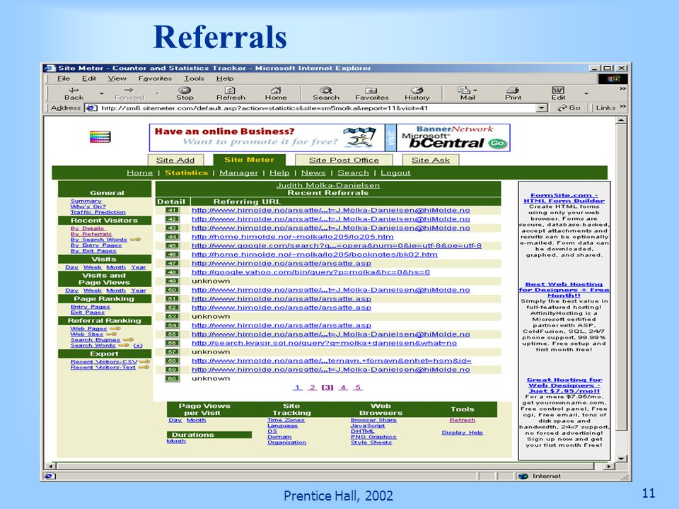 Referrals Prentice Hall, 2002