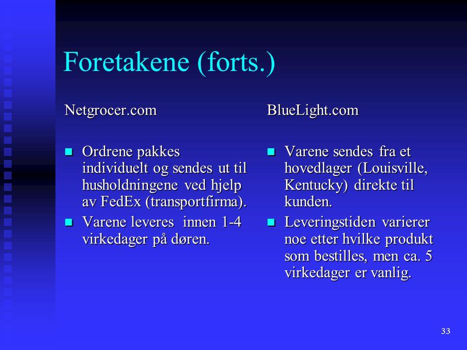 Foretakene (forts.) Netgrocer.com