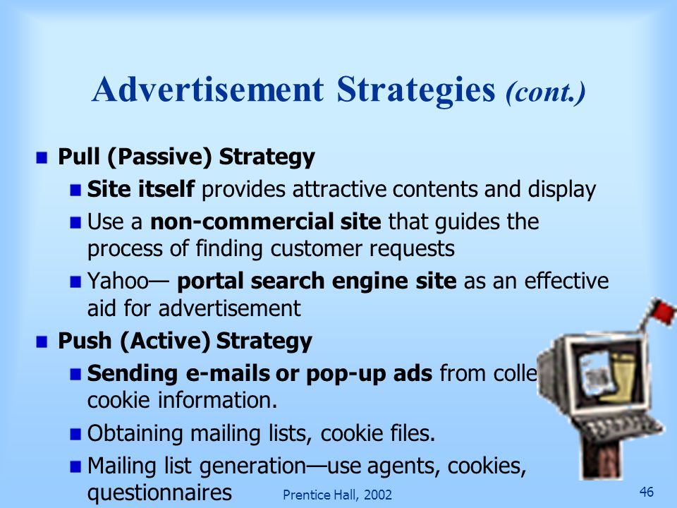 Advertisement Strategies (cont.)
