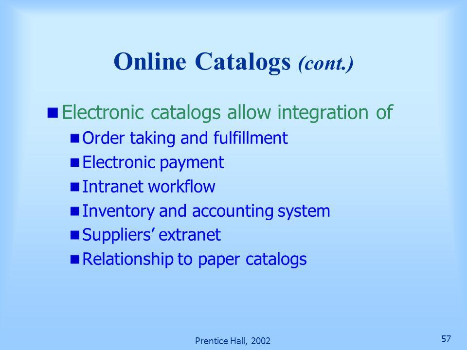 Online Catalogs (cont.)