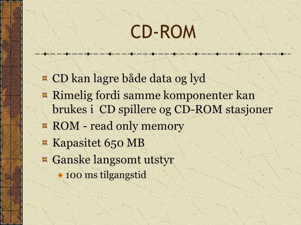 CD-ROM CD kan lagre både data og lyd
