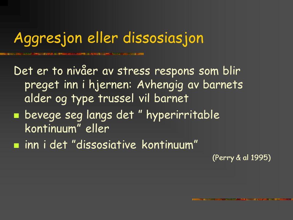 Aggresjon eller dissosiasjon