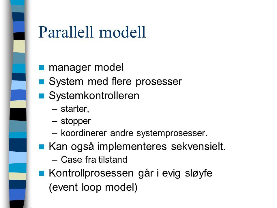 Parallell modell manager model System med flere prosesser