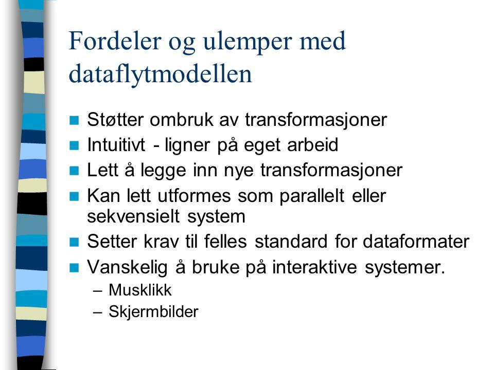 Fordeler og ulemper med dataflytmodellen