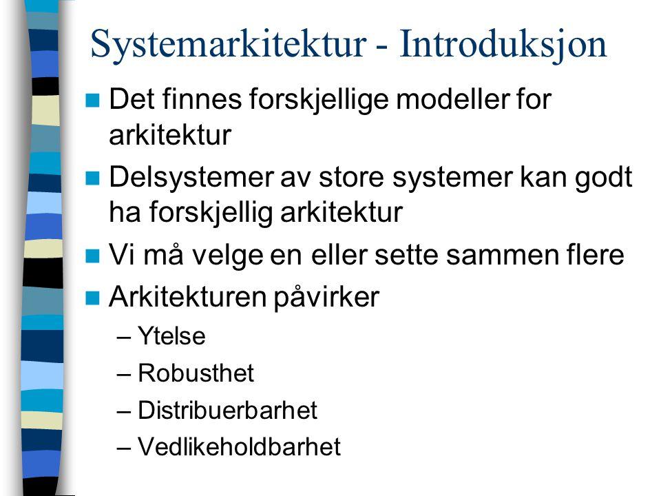 Systemarkitektur - Introduksjon