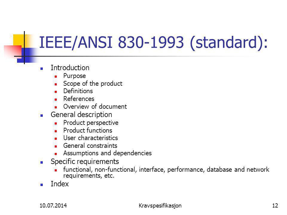 IEEE/ANSI 830-1993 (standard):