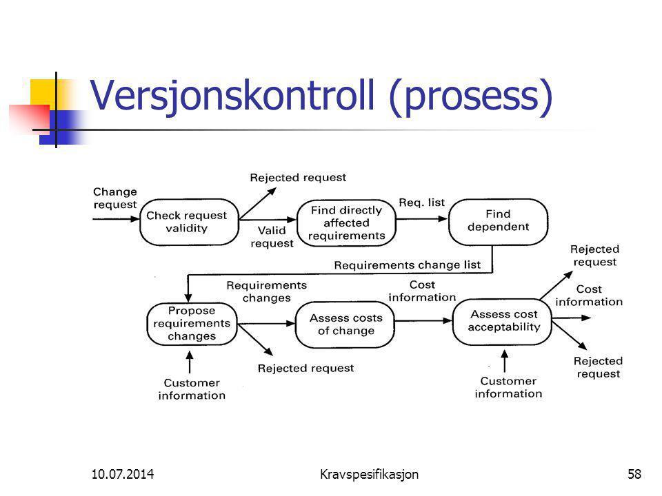 Versjonskontroll (prosess)