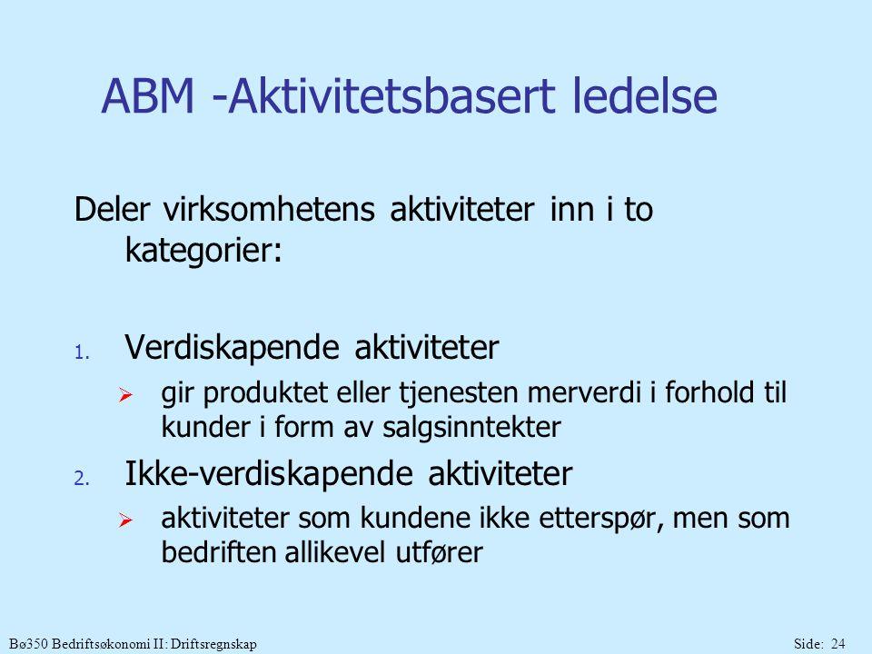 ABM -Aktivitetsbasert ledelse
