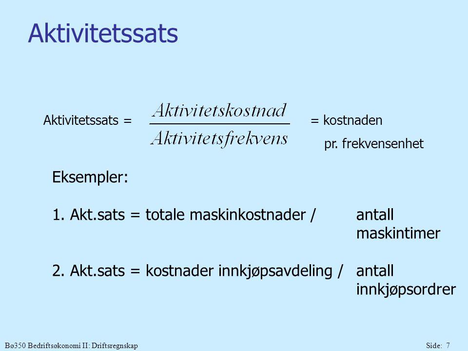 Aktivitetssats Eksempler: