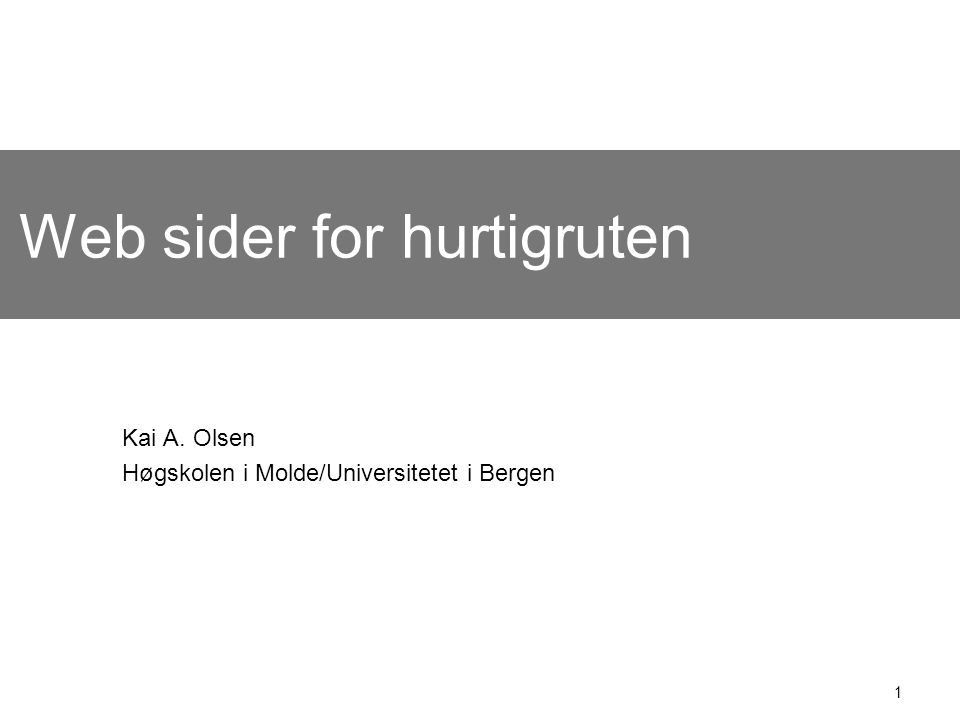 Web sider for hurtigruten