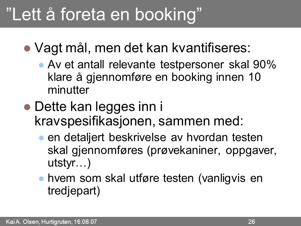 Lett å foreta en booking