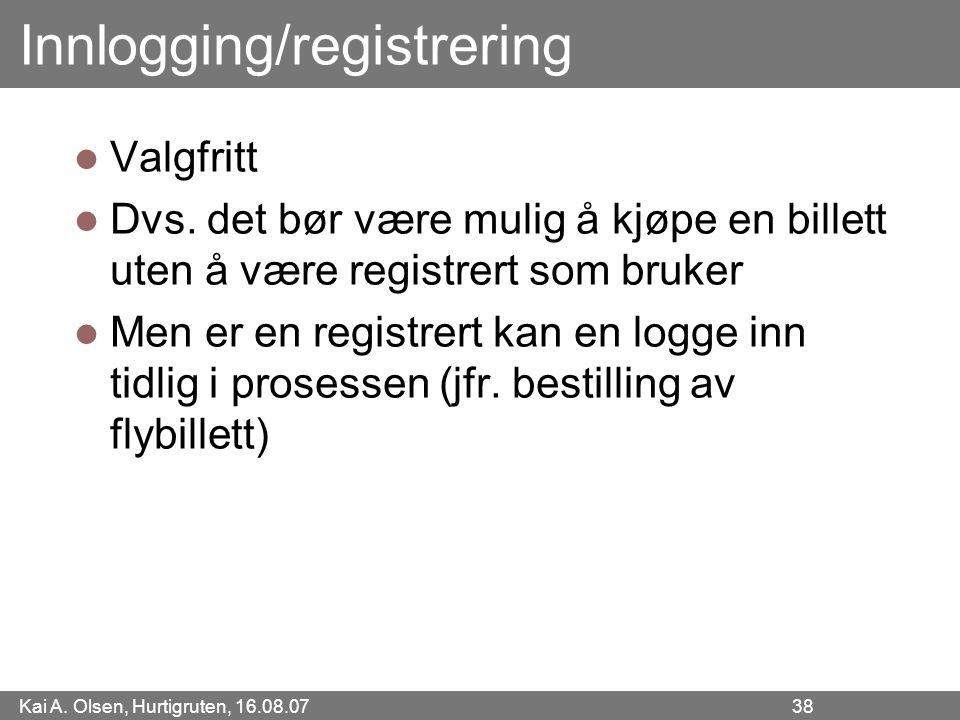 Innlogging/registrering