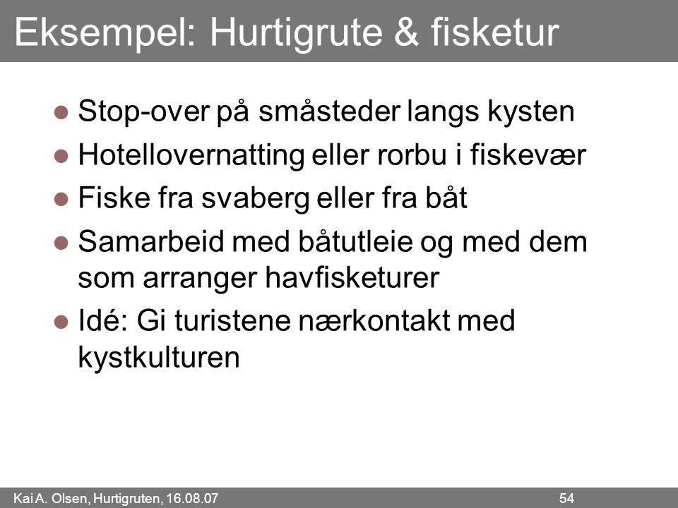 Eksempel: Hurtigrute & fisketur