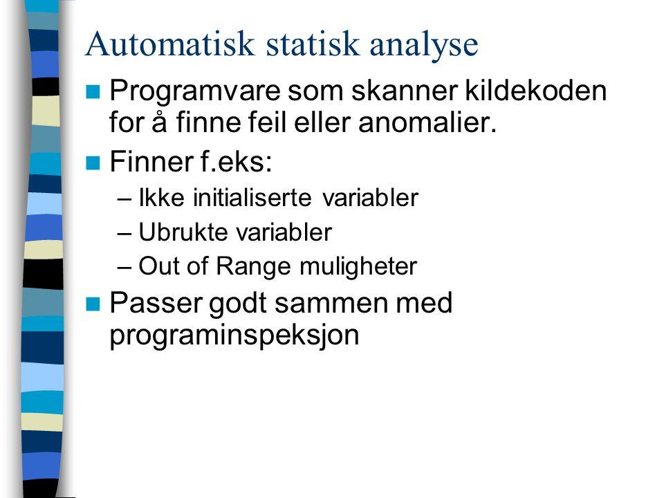 Automatisk statisk analyse