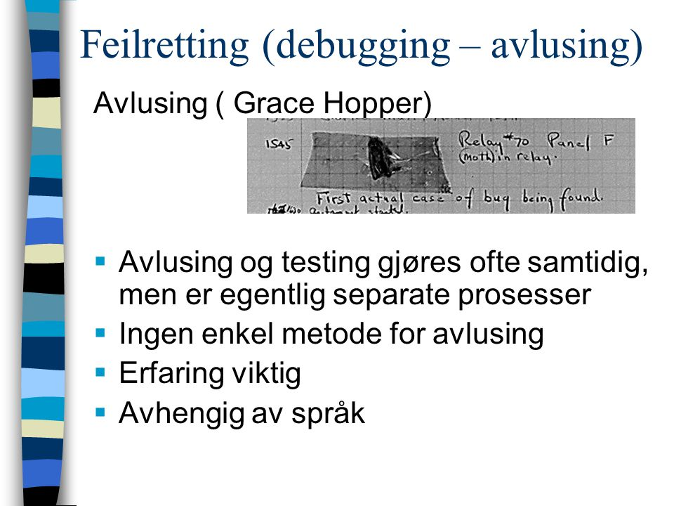 Feilretting (debugging – avlusing)