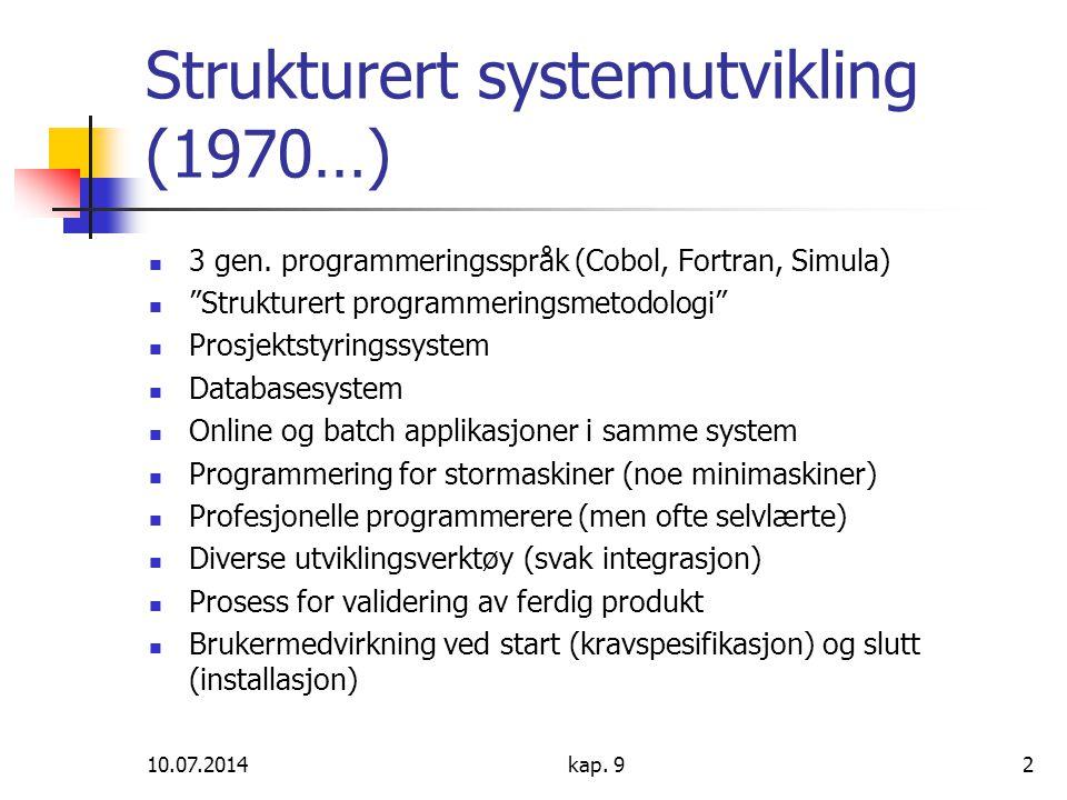 Strukturert systemutvikling (1970…)