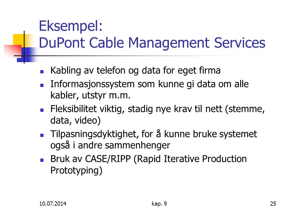 Eksempel: DuPont Cable Management Services