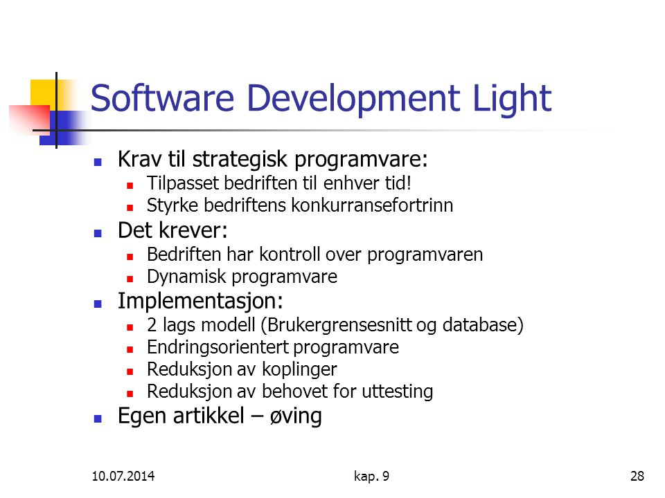 Software Development Light