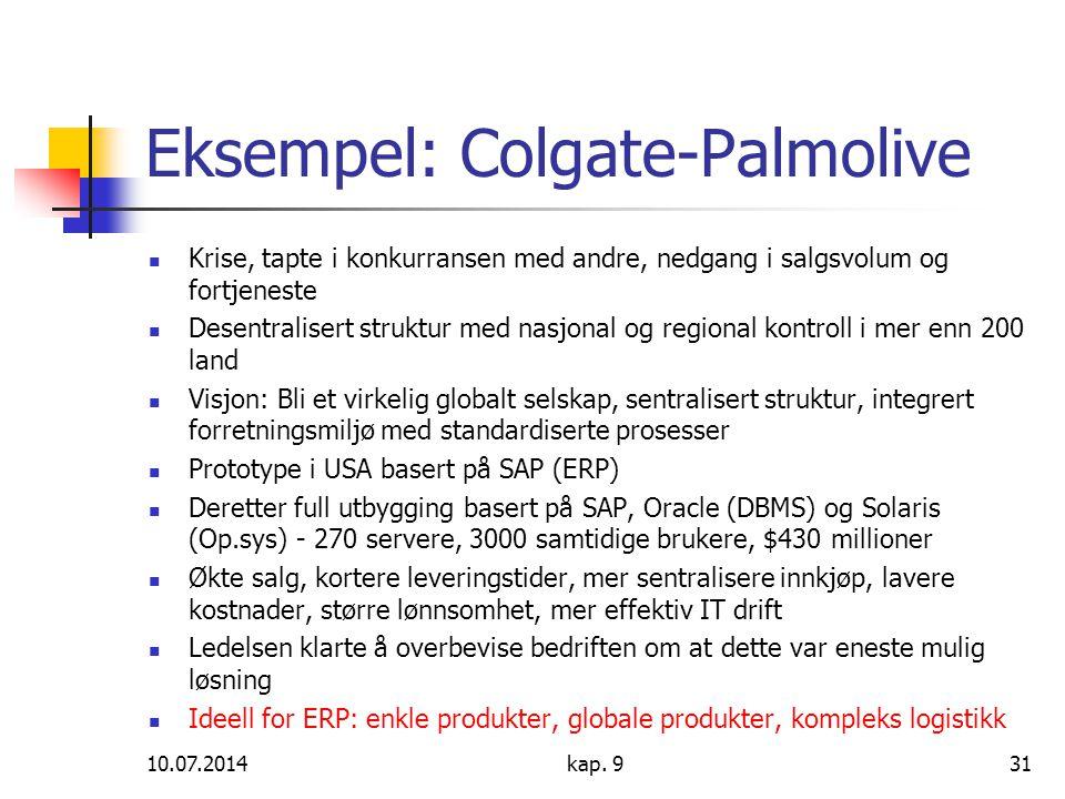 Eksempel: Colgate-Palmolive