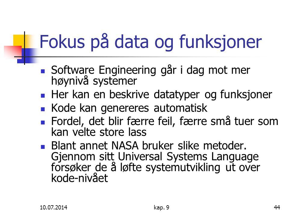 Fokus på data og funksjoner