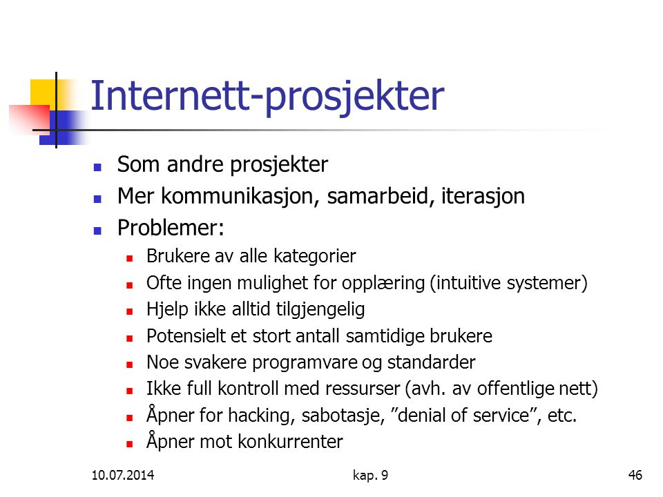 Internett-prosjekter