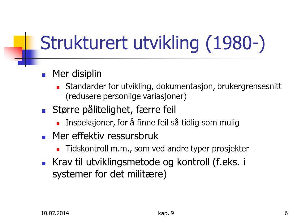 Strukturert utvikling (1980-)