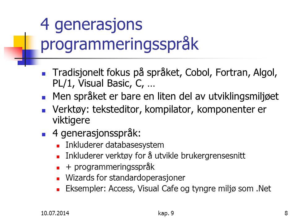 4 generasjons programmeringsspråk