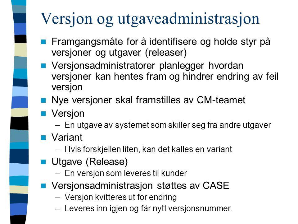 Versjon og utgaveadministrasjon