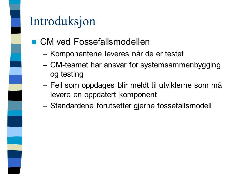 Introduksjon CM ved Fossefallsmodellen