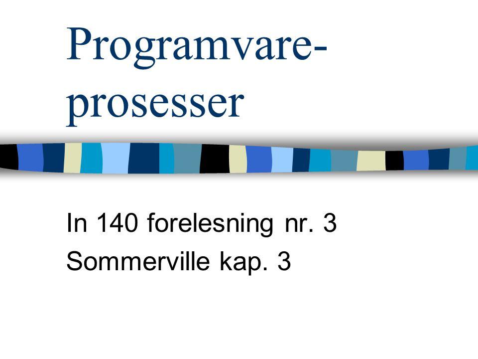 Programvare-prosesser