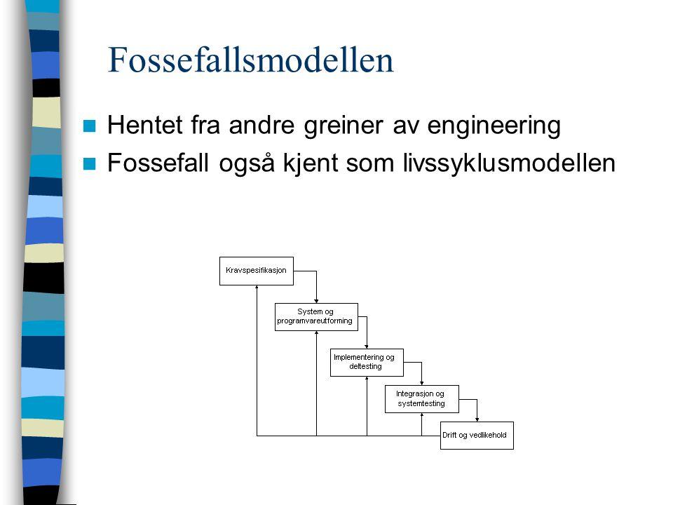 Fossefallsmodellen Hentet fra andre greiner av engineering