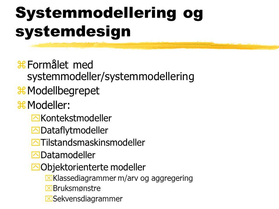 Systemmodellering og systemdesign