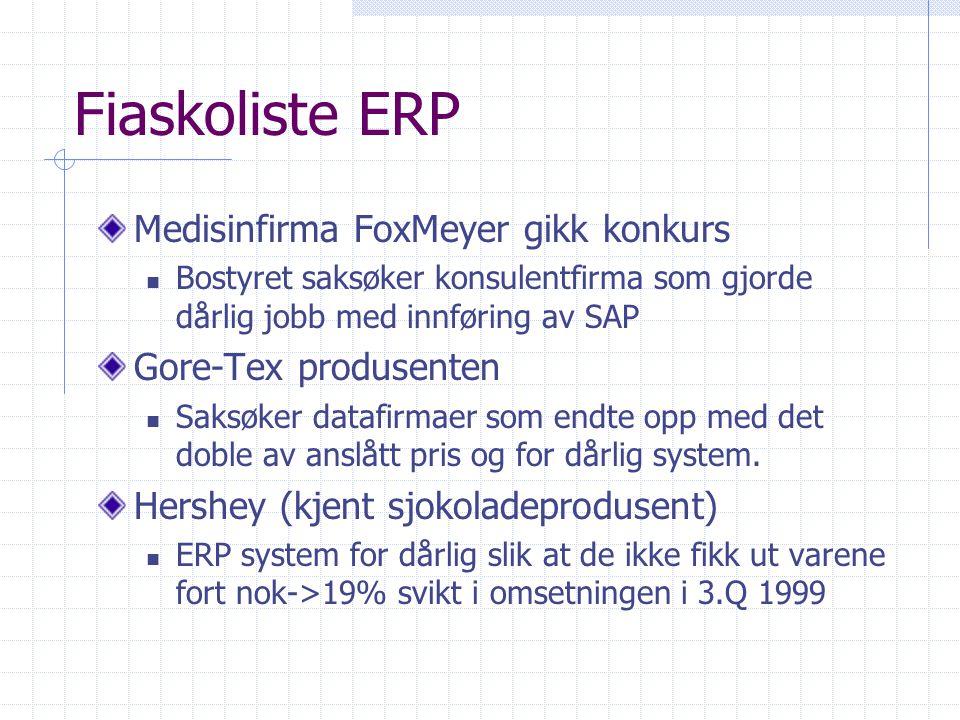 Fiaskoliste ERP Medisinfirma FoxMeyer gikk konkurs