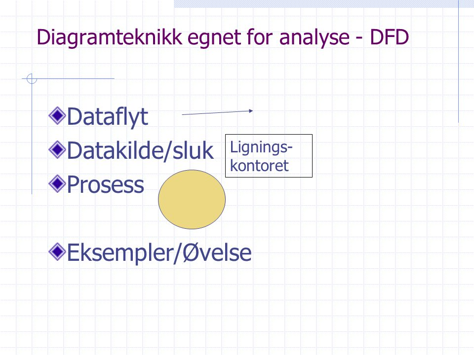 Diagramteknikk egnet for analyse - DFD