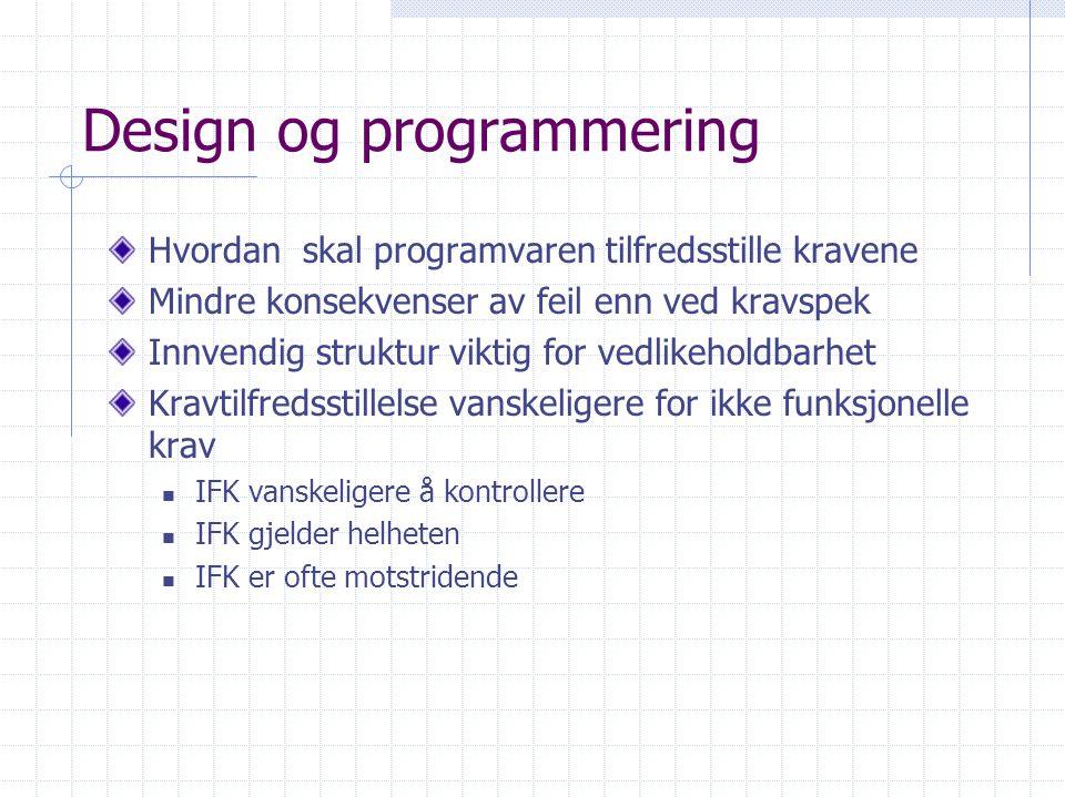 Design og programmering