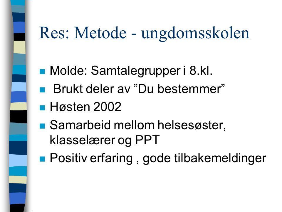 Res: Metode - ungdomsskolen