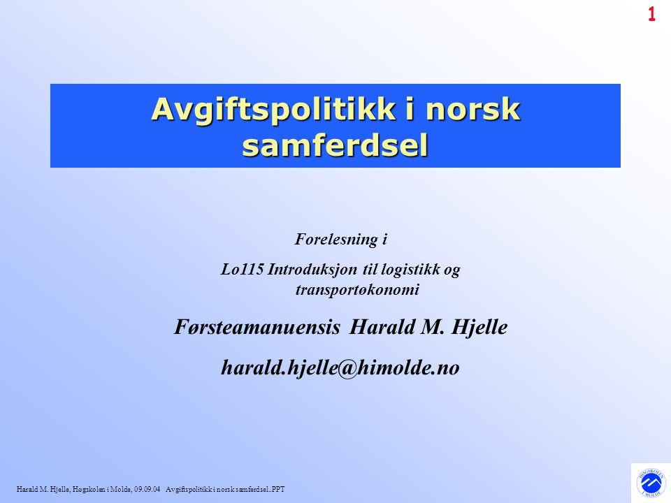 Avgiftspolitikk i norsk samferdsel