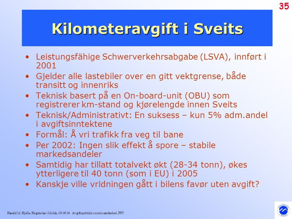 Kilometeravgift i Sveits